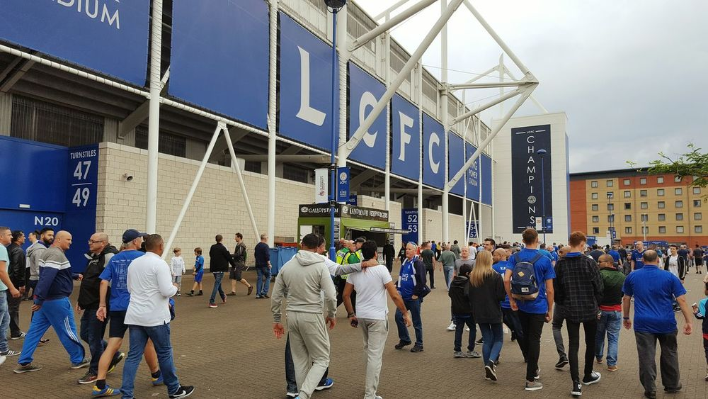 Home of English Premier League champions Leicester City. City Built Structure Building Exterior Crowd City Life Lifestyles Sport Football Stadium Leicester City