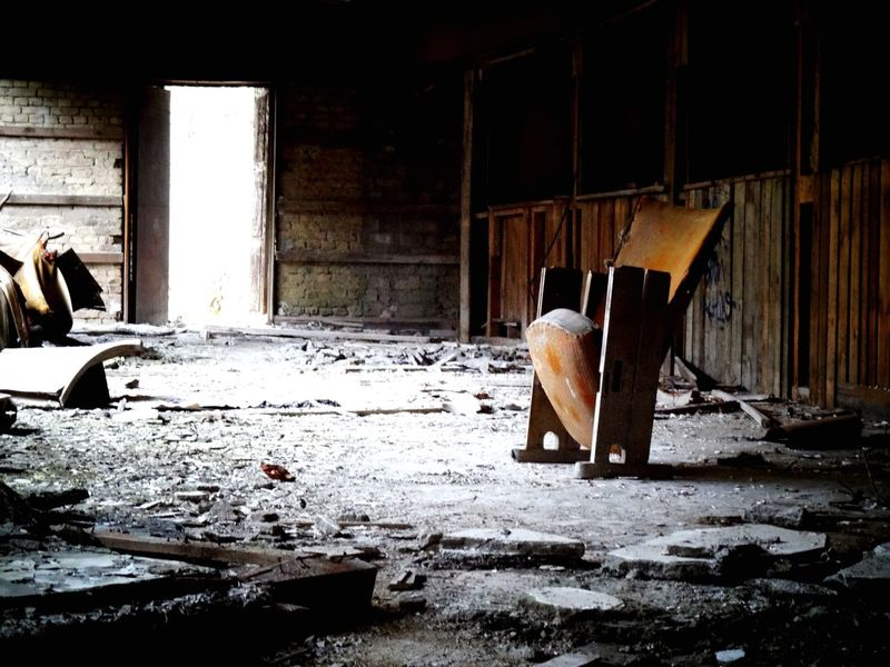 Last chair standing. Abandoned Desolate Destruction No People Architecture Deserted Indoors  Bleak Day Chair Stories History Theater EyeEm Best Shots Ruins War Society Culture Alone Photography Germany Deserted Scapes Urban Architecture Unknown