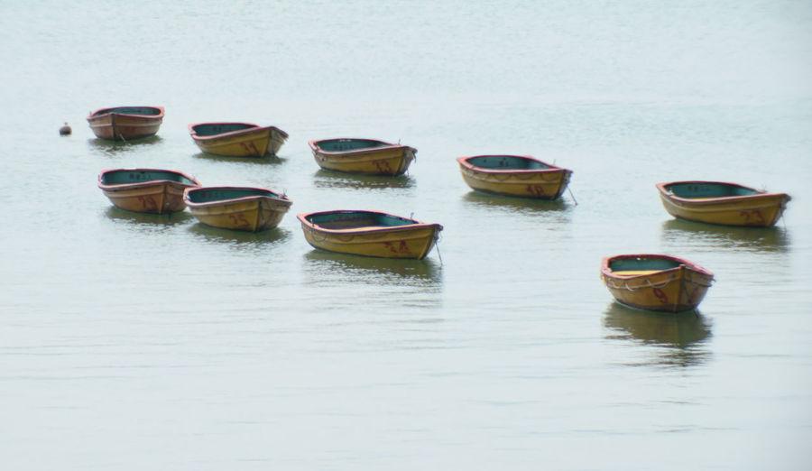 Empty boats