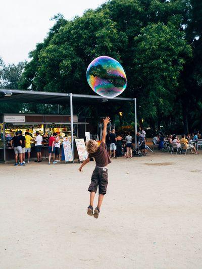 The Street Photographer - 2017 EyeEm Awards Barcelona, Spain Parc De La Ciutadella Childhood Outdoors Bubble Dreaming Streetphotography