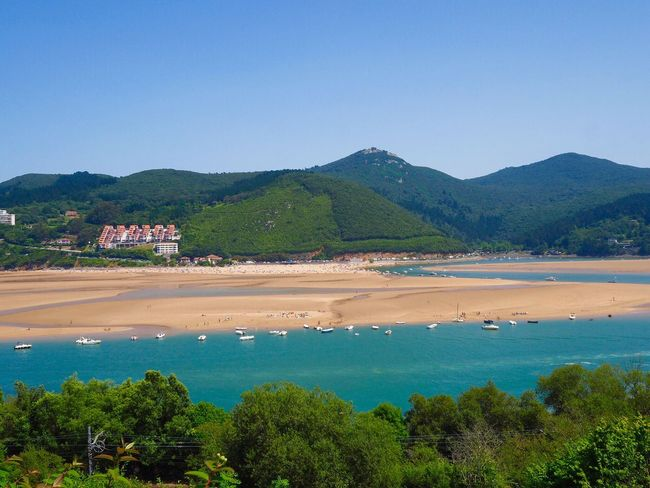 Urdaibai Water Tree Plant Mountain Built Structure Land Nature Sky Scenics - Nature Beauty In Nature No People Day Tranquil Scene Blue Tranquility Sea Clear Sky Outdoors