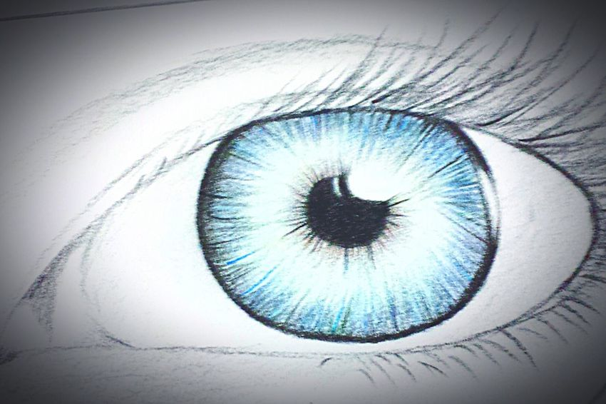 Extreme Close-up Eyesight Human Eye Eyelash Iris - Eye Eyeball EyeEm Best Shots Drawing