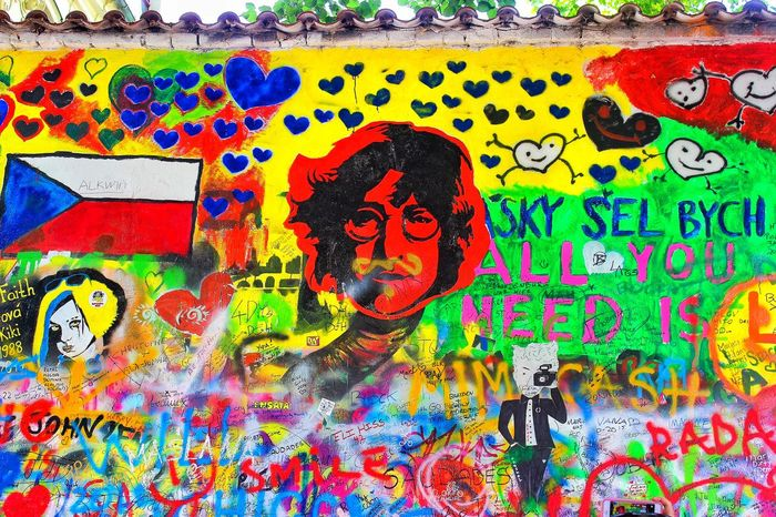 Lennon wall. Prague Czech Czech Republic John Lennon's Wall Lennon Urban EyeEmBestPics Greatest_shots