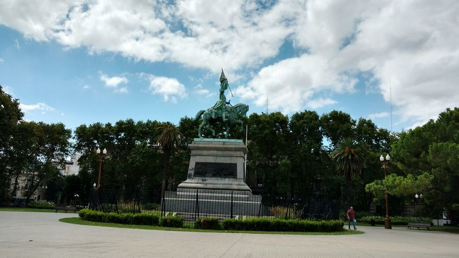 Sky Tree Cloud - Sky Statue Sculpture Outdoors No People Architecture Palm Tree Day Rosario, Argentina City Tourism Destinations