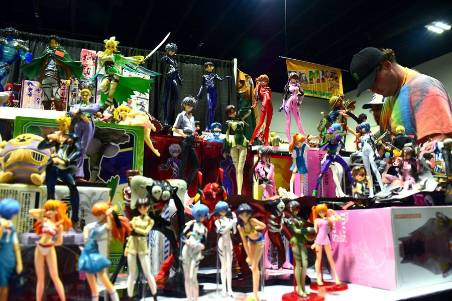 Retail  Arts Culture And Entertainment Leisure Activity Adult Lifestyles Indoors  Toy Models Anime Comicon Comic Con