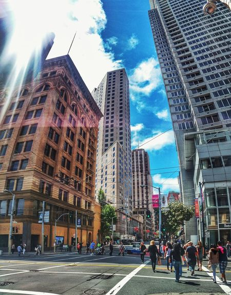 San Francisco San Francisco, California Architecture Built_Structure Building Exterior Skyscraper City City Life Sky Cloud - Sky Day Cityscape Happy Pride Summer Summer Memories 🌄 Crowd People Colorful Color Photography Arts Culture And Entertainment Let's Go. Together.