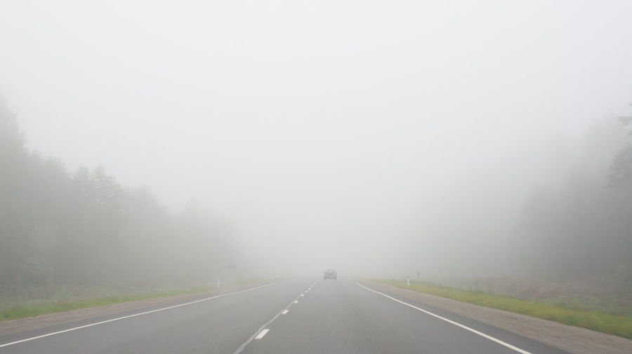 Future is uncertain Fog Landscape No People Outdoors Road The Way Forward Transportation