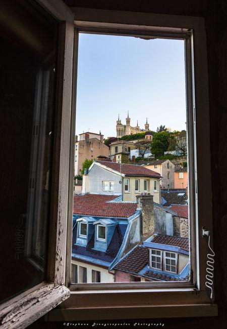 Window with view on Fourvière Lyon Window Architecture No People Day Sky France Lyonnais Lyon France Photo Photography LyonCity Only Lyon Rhonealpes Travelling Rhône Travel Tranquility Travel Destinations City Cityscape Lyon Part-Dieu Sunset
