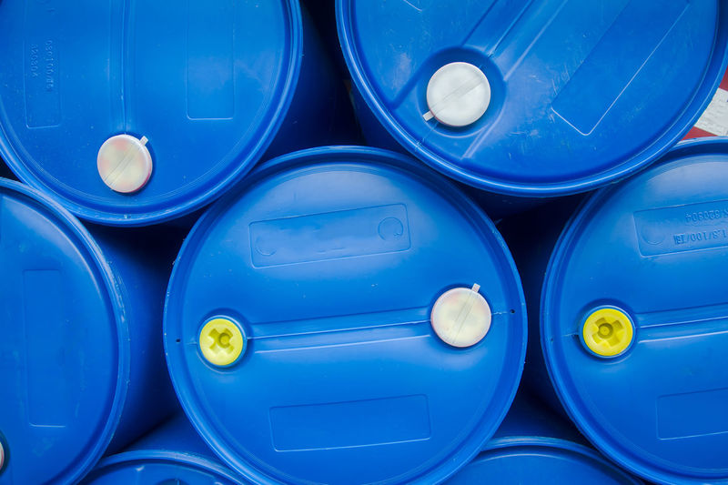 Chemical Plant, Plastic Storage Drums, Blue Barrels,Oil tank Abstract Background Backgrounds Barrel Blue Blue Barrels Chemical Plant Close-up Day Full Frame Import Indoors  No People Oil Oil Tank Plastic Storage Drums Tanks