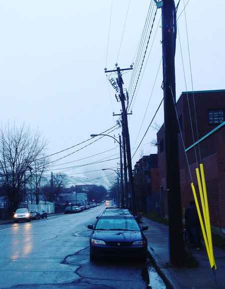 Blue City Life Fog Foggy Day Olympic Stadium Transportation Urban Yellow