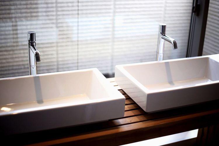 Bathroom Domestic Bathroom Faucet Indoors  Modern Domestic Room No People Bathroom Sink Day