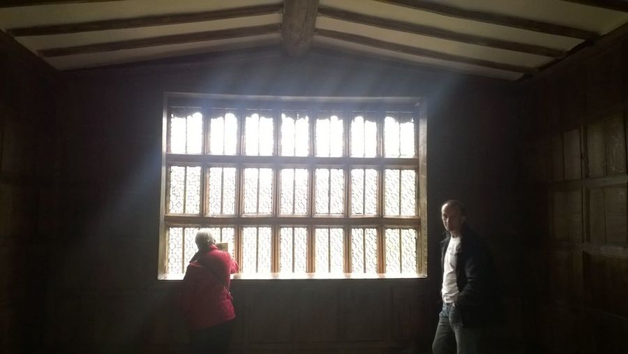 Window Indoors  Home Interior Looking Through Window Adults Only Adult People See What I See Tudor House There Was A Crooked House.. National Trust 🇬🇧 Beauty In Architecture Sunlight Through The Window Sunlight, Shades And Shadows Sunrays