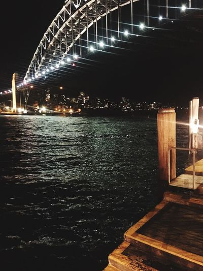 Harbour Lights Walshbay Harbour Sydney Illuminated Night Architecture Built Structure Bridge Bridge - Man Made Structure Water City Travel Destinations Tourism Reflection Outdoors Sky