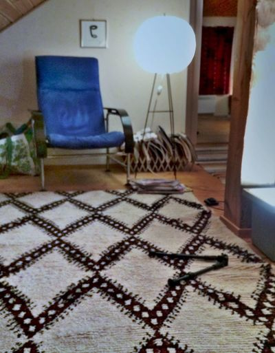 Kukkapuro Interiors Lamp Interior Design Chair Kukkapuro chair with lamp (60's finnish). Marimekko