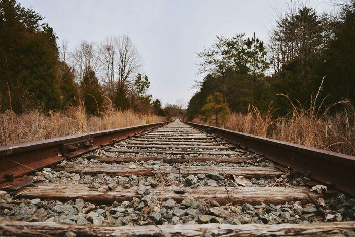 Down the tracks Train Tracks Exploring Railroad Rails Down The Way Distance Nikon Nikonphotography
