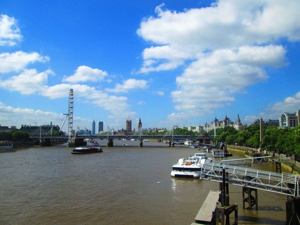 Architecture Cloud - Sky Day Harbor Mode Of Transport Nautical Vessel No People Outdoors River River Thames River View Riverbank Rivers Riverscape Riverside Sky Thames Thames River The Thames Transportation Travel Destinations Tree Water