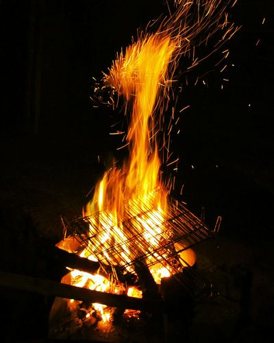 FIRE Fire - Natural Phenomenon Heat - Temperature Flame Burning Danger Night No People Motion Exploding Outdoors Lava Metal Industry Winter Warm