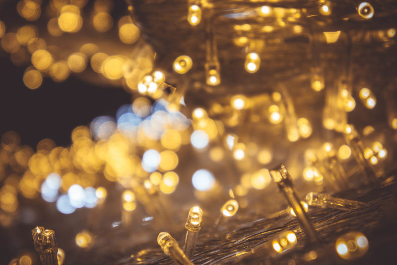 night light Christmas Decoration Christmas Lights Close-up Defocused Fairy Lights Focus On Foreground Glowing Illuminated Lighting Equipment Night No People Outdoors