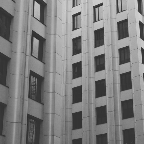 Moody Black & White Buisness Centrum City City Landscape Architecture Full Frame Backgrounds Pattern No People Built Structure Architecture Textured  Day Close-up