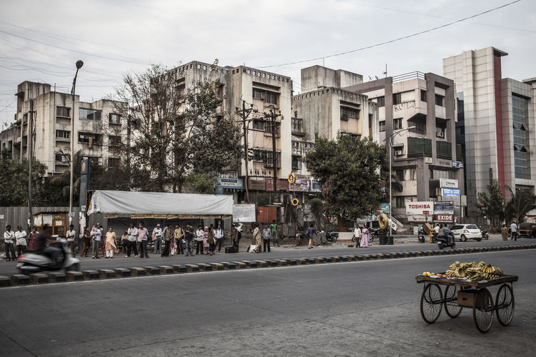 Pune, Streetmarket, India Adult Adults Only Architecture Building Exterior Business Business Finance And Industry City City Life Day Large Group Of People Outdoors People Retail  Sky Street Tree Miles Away