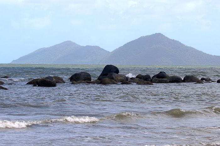 Beach Day Landscape Mission Beach Mountain No People Outdoors Queensland Australia Rocks Rocks And Water Sea Water