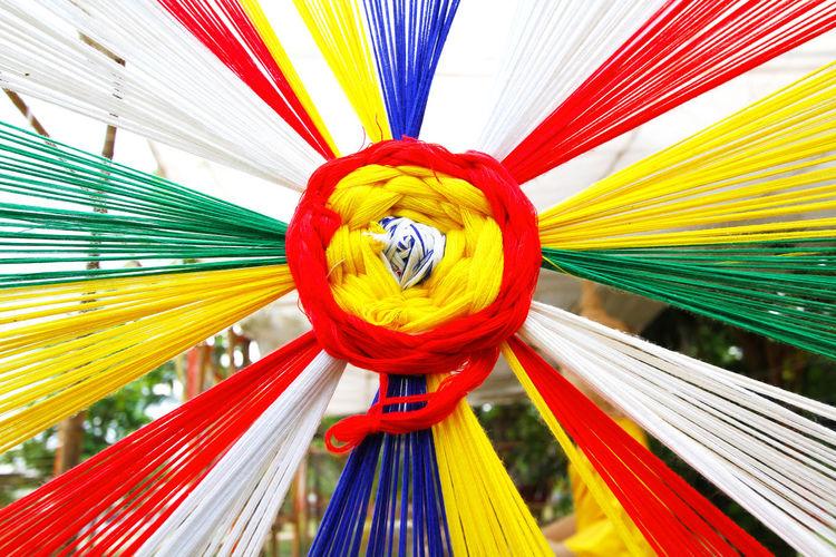 Close-up of multi colored umbrella