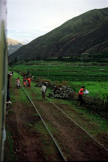 People And Places On The Way Train from Cuzcoto Machu Picchu Railway Train Window Peru Latin America Old Travel Travel Photography Andes Peruanos People And Nature Mountains Andes Mountains People On Trains People Peruvians Green Nature Miles Away Let's Go. Together. An Eye For Travel This Is Latin America