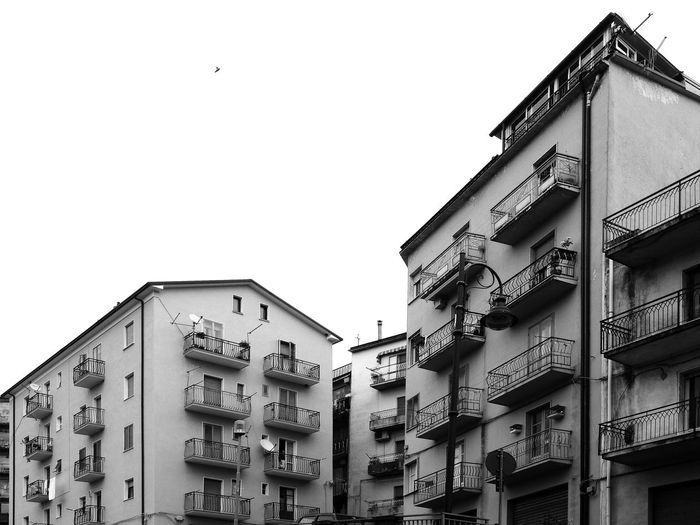 Residenzial buildings Black & White Italia South Italy View Architecture Balcony Black And White Black And White Photography Building Exterior Buildings Built Structure Calabria City Glimpse Low Angle View Outdoors Residential Building Verbicaro