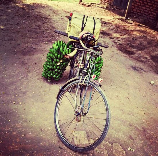 Investing In Quality Of Life Bicycle Transportation Day Mode Of Transport Land Vehicle High Angle View Outdoors Stationary No People Banana Business Africa An Eye For Travel