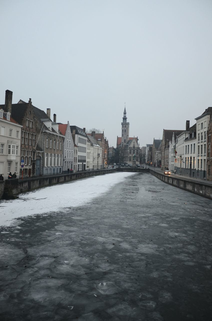 VIEW OF CITY DURING WINTER