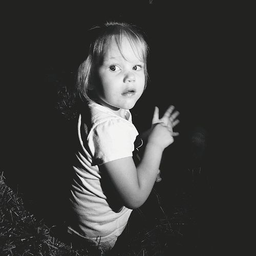 Child Portrait Childhood One Person People Baby Black Background Children Only Human Body Part Adult Blackandwhitephoto Mydaughter❤️ The Portraitist - 2017 EyeEm Awards Place Of Heart Black And White Friday