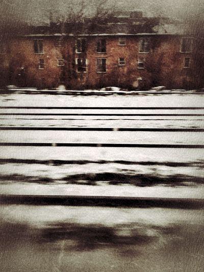 Riding the rails through east Toronto. Rail Transportation Railway Railway Track Toronto Canada Winter Snow Bleak Close-up Day