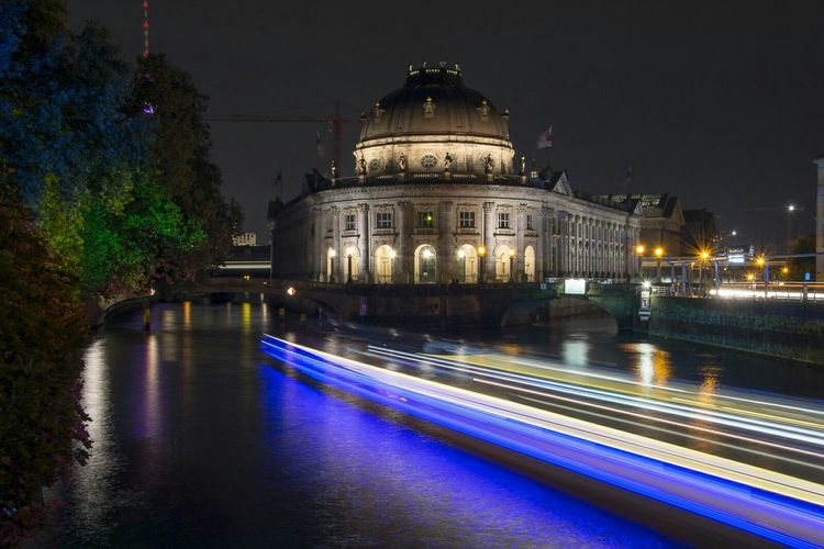 Berlin Museum Island Nightphotography Night Lights Night Photography River Bodemuseum Colorful Colors Architecture