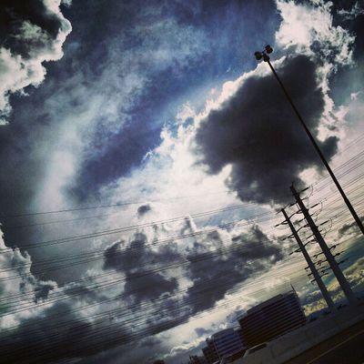 Instagramaz Tempeaz ASU Desertlivin Horizon Blueskies Clouds Driving 202 Sunset @arizonaskies Sunsetsgram Colorful Cloudydays Cloudporn Insaneweatherinphx Lensflare Sunglare Lightpole Powerline Awesomeclouds Pretty Sunaftertherain Building