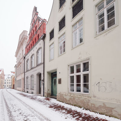 view of snow covered buildings in city Historical Building Mecklenburg-Vorpommern Winter Winterscapes Architecture Building Exterior Built Structure Clear Sky Cold Temperature Day Germany Nature No People Old Buildings Oldtown Outdoors Philipp Dase Sky Snow Snow Covered Transportation Window Winter Winter In The City Wismar