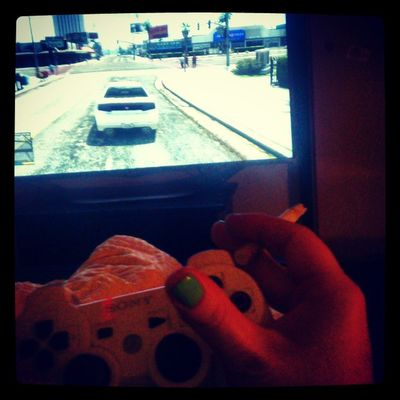 GTA V Zocken Ps3 playstation late night zigarette schatz controlling haha drive kill chill