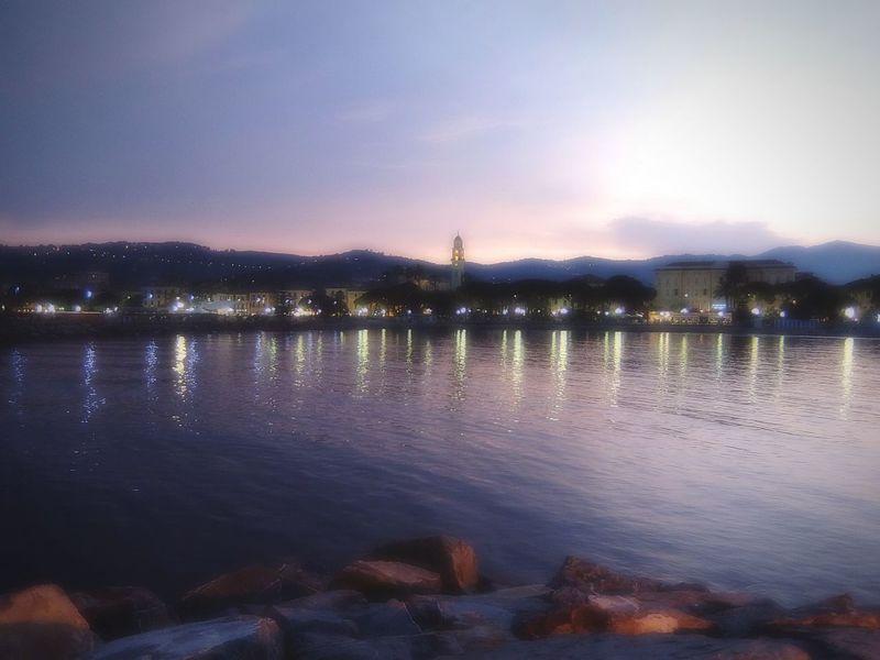 Diano Marina Liguria Liguria - Riviera Di Ponente Holiday EyeEm Liguria Evening Evening Sky Sea And Sky Night Lights Fujifilm