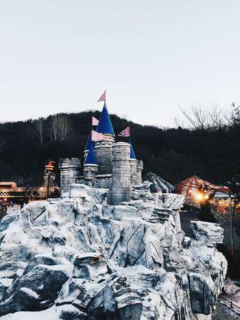 Korea Seoul Themepark Everland Winter Castle
