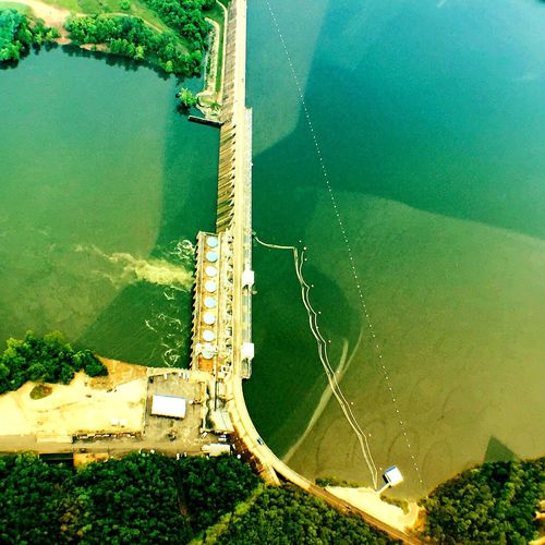 Aerial Shot Bagnell Dam Perspectives Helicopter