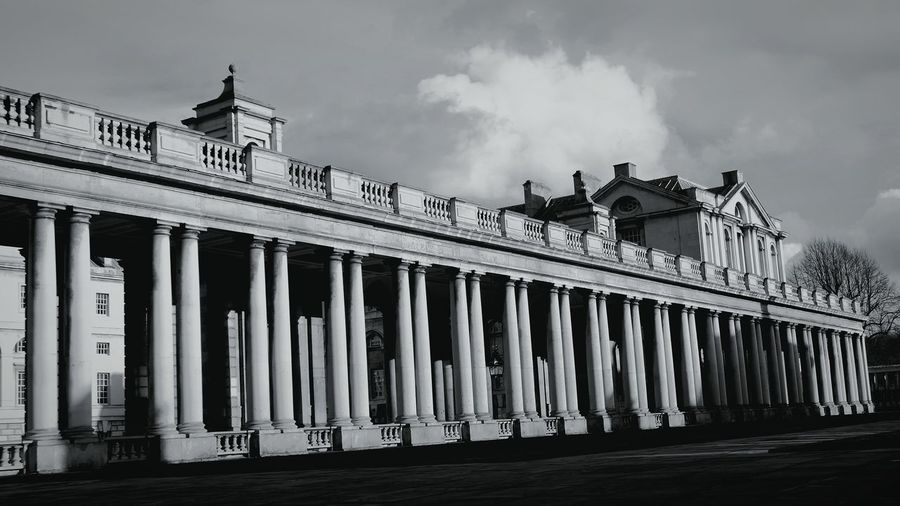 Cloud - Sky 21st Birthday! London Greenwich Naval College Black And White