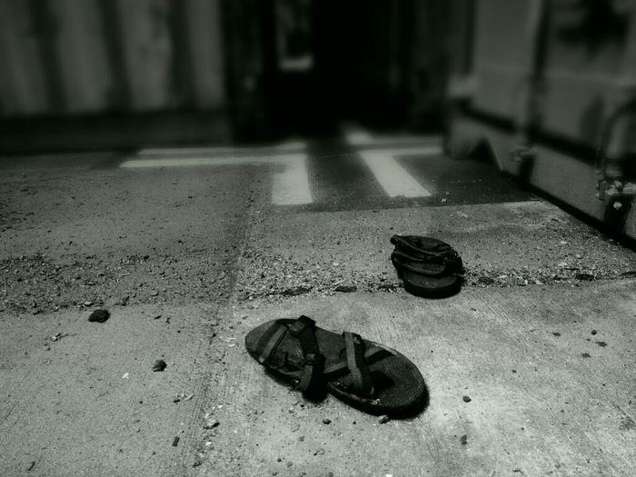 The Black Sandals Abandoned