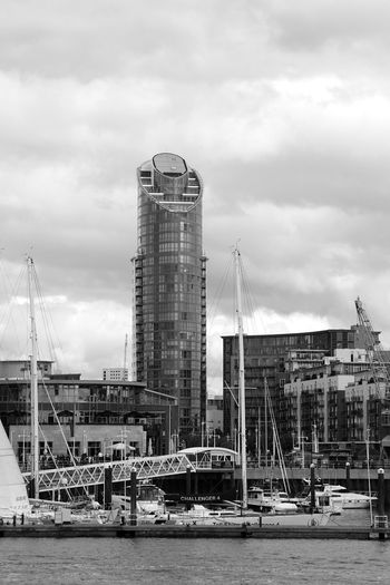 Portsmouth Harbour Business Finance And Industry Water Architecture Skyscraper Modern Building Exterior Built Structure Cityscape Sky Cityscape Transportation Harbor The Week On EyeEm Travel Photography Black And White Black & White Bnw_collection Black&white Black And White Collection  Mast Travel Harbour Bnw Cranes And Construction Black And White Friday