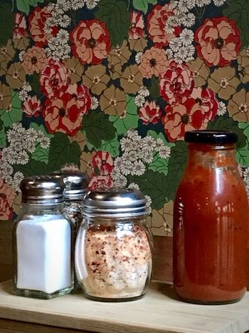 Sur la table... Table Jar Indoors  Flower Food And Drink Salt Shaker Pepper - Seasoning Food No People Freshness Day Close-up