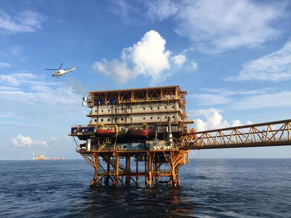 Sea Sky Water Cloud - Sky Architecture Building Exterior Built Structure Outdoors Nature No People Day Offshore Platform Beauty In Nature