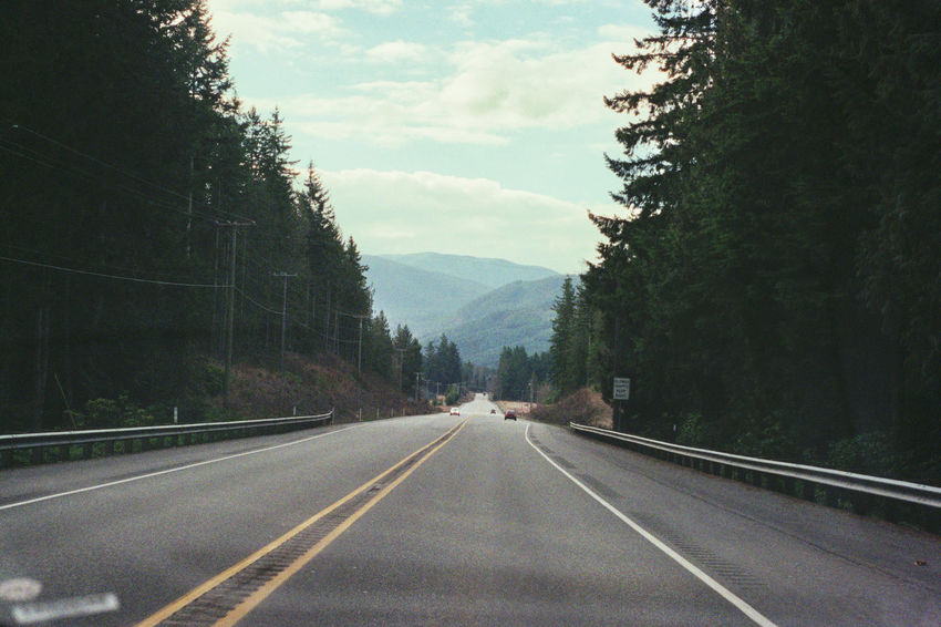 Country Road Day Diminishing Perspective Empty Road Film Photography Landscape Liveauthentic Livefolk Long Mountain Mountain Range Nature On The Road Outdoors Pacific Northwest  Road Roadtrip Scenics Sky The Way Forward Tranquil Scene Tranquility USA Vanishing Point Washington