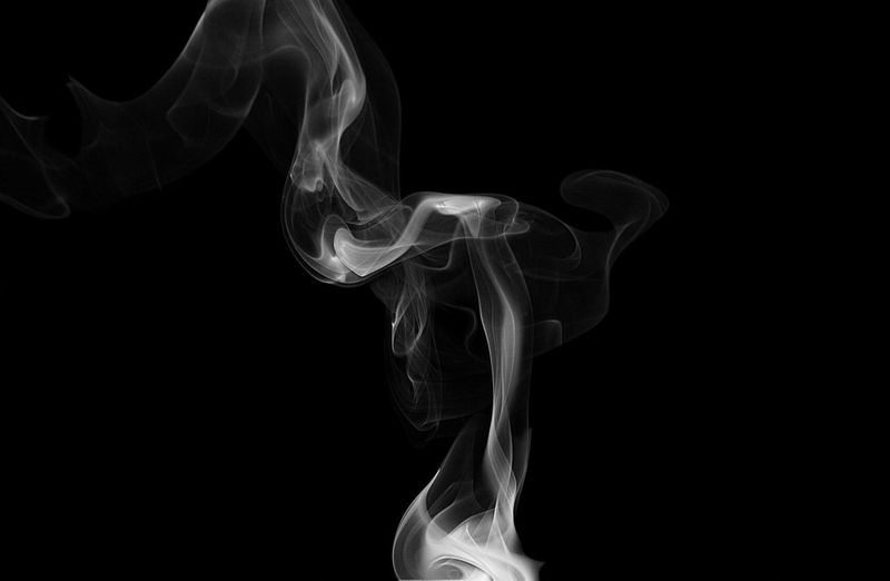 Smoke against black background