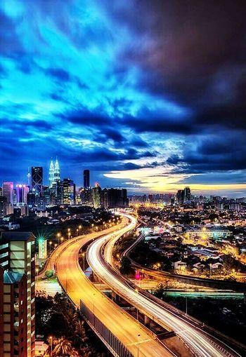 KLCC Tower Night Skyline