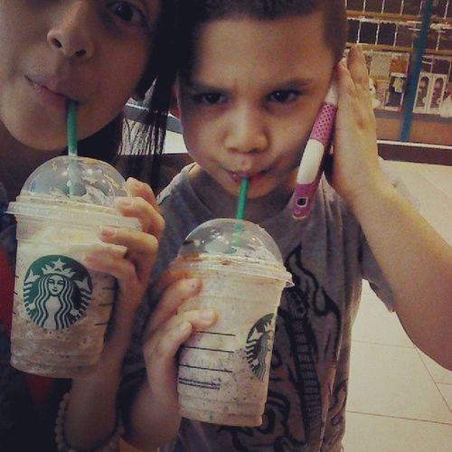 Starbucks with the little cousin Starbucks Wecool IDK Cool
