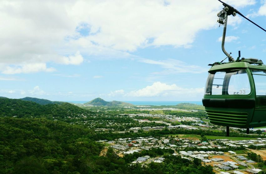 Cloud - Sky Sky Mode Of Transport Transportation Nature Outdoors No People Day Nautical Vessel Landscape Scenics Overhead Cable Car Mountain Beauty In Nature Cairns, North Queensland, Australia Cable Car