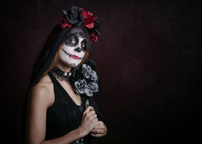 Carnival Catrina Day Of The Dead Death Disguise Gothic Halloween Horror Mexico Tradition Trick Or Treat Witchcraft  Black Close-up Costume Dead Looking At Camera Mexican Mysterious Mystery Nightmare One Person Scare Terror Witch Young Women